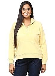 GRAIN yellow Color Regular fit Cotton Jackets for Women