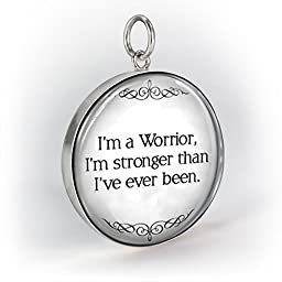 Silver Demi Lovato Warrior Stronger Than Ive Ever Been Quote Design Pendant Charm Sterling Silver 925 Pendants New for Women Jewelry Charms