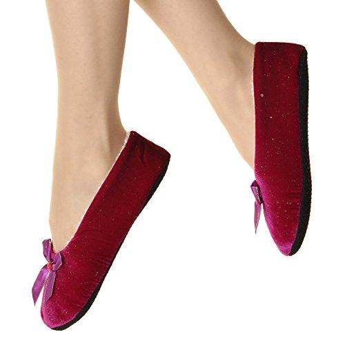 Angelina Cozy Ballet Flat Slipper Socks #1215 Fucshia (Angelina Ballerina Clothes compare prices)