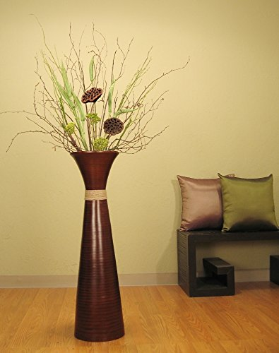 decorative tall floor standing vases with branches