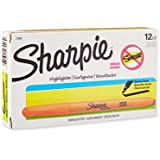 Sharpie 27006 Accent Pocket Style Highlighter, Fluorescent Orange, 12-Pack