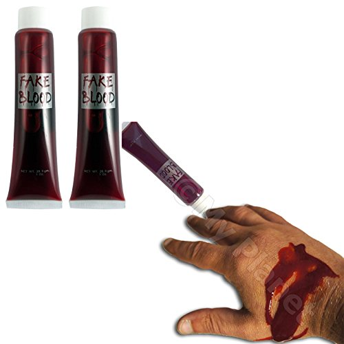 VALUE MULTIBUY 3 x Fake Blood Scary Horror Fancy Dress Party Costume Halloween Fun Accessory by Partyrama