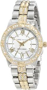 Anne Klein Women's 10/9721MPTT Swarovski Crystal Accented Two-Tone Bracelet Watch