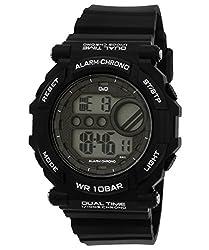 Q&Q Regular Digital White Dial Mens Watch - M136J002Y