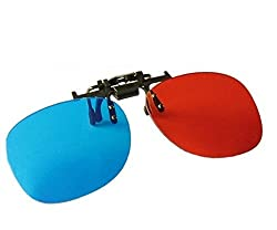 REAL 3D Clip-on Red Blue/cyan anaglyph 3D Glasses A-CON