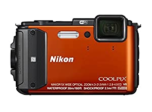 Nikon Coolpix AW130 Shock & Waterproof GPS Digital Camera (Orange) - International Version