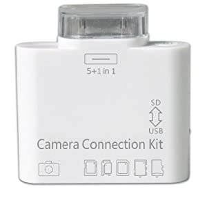5 In 1 Ipad, iPad2 and New iPad Camera Connection Kit USB port and SD(HC), MS DUO, MMC, M2, T-FLASH (TF) Card Adapter (OS support 3.2 to 4.2.1)