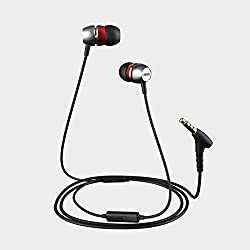 Evidson AudioWear V5 Earphones with Mic Red
