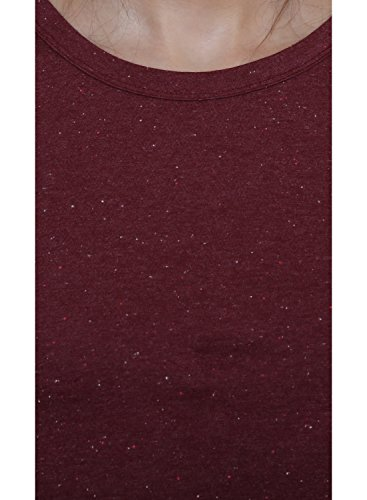 Le Bourgeois Maroon Color Cotton Top For Women