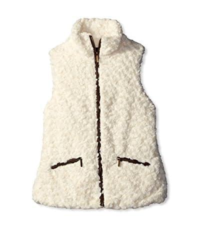Yoki Women's Faux Fur Vest  [Black]