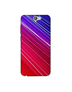 HTC One A9 nkt02 (28) Mobile Case by Mott2 - Colorful Lines - Red, White and ... (Limited Time Offers,Please Check the Details Below)