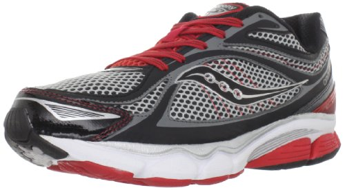 Saucony Men's Progrid Omni 11 Running Shoe,Grey/Black/Red,12 M US