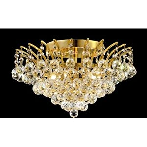 Amazon.com: Victoria 6 Light Semi Flush Mount Finish: Gold ...