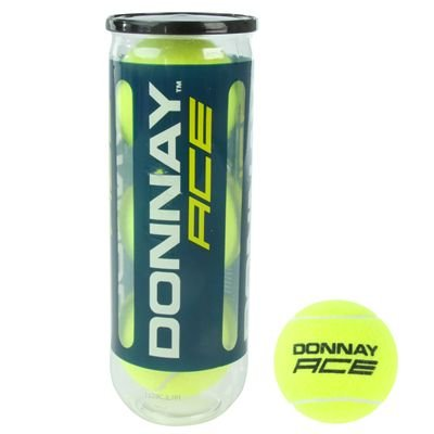 Donnay Ace Tennis Balls Yellow 3 Ball