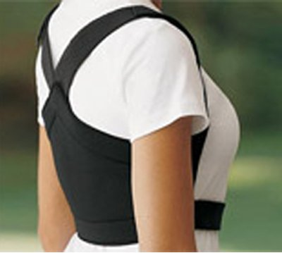 "ShouldersBack Posture Support - ShouldersBack White Medium - 24-38"" Around"