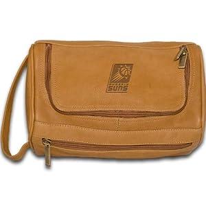 NBA Phoenix Suns Tan Leather Shave Kit Bag by Pangea Brands