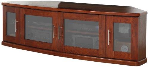 plateau newport 62 w corner wood tv stand 62 inch walnut finish new ebay. Black Bedroom Furniture Sets. Home Design Ideas