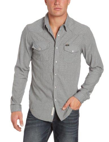 Lee Men's Slim Western - L871Pb01 Casual Shirt Black (Black) 60/62