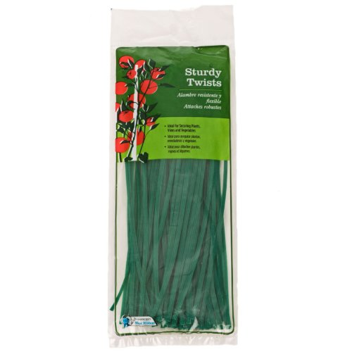Gardener's Blue Ribbon 8 Inch Plastic Twist Ties  T002A