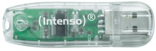 Intenso USB drive 32GB, USB Stick Rainbow Line Intenso Rainbow Line 3502480 - USB-Flash-Laufwerk - 32 GB - USB 2.0, durchsichtig