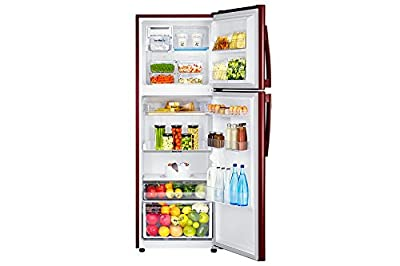 Samsung RT33JSMFERZ Frost-free Double-door Refrigerator (321 Ltrs, 4 Star Rating, Tender Lily Red)