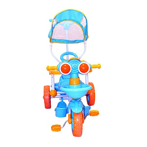 BayBee Shoppee Baby Tricycle with Handle and Music Blue,Yellow