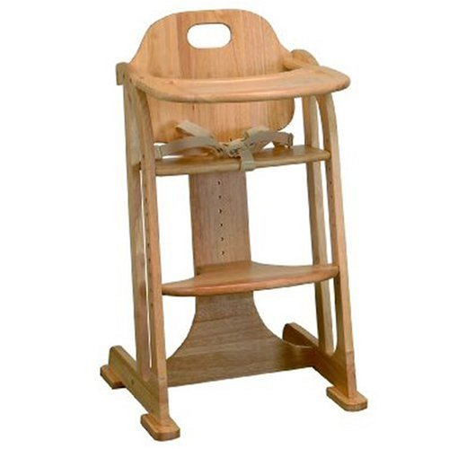 East Coast Natural All Wood Multi-Height Highchair