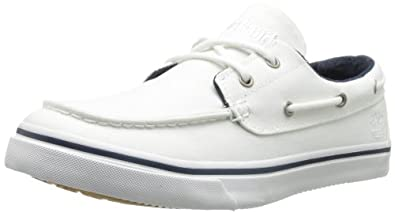 Timberland Men's Newmarket Boat Oxford,White,7 M US