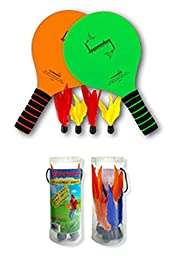 Funsparks Jazzminton Set with 4 Replacement Birdies