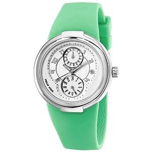 Philip Stein Women's 31-AW-RA Active Green Rubber Strap Watch