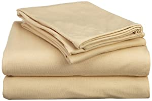 Hanes Jersey Knit Full Sheet Set, Chino