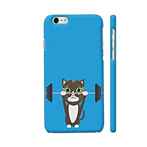 Colorpur Fitness Cat Weight Lifting Artwork On Apple iPhone 6 / 6s Cover (Designer Mobile Back Case) | Artist: Torben