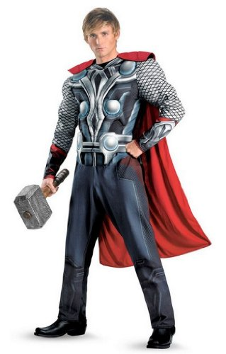 Avengers Costume Thor Muscle Costume Mens