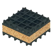 "Mason NK4X4 Neoprene Waffle and Cork Sandwich Vibration Isolation Pad, 4"" Length x 4"" Width x 1"" Thick"