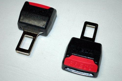 選べる3色 シートベルト 警告音 キャンセラー 2 個 セット 【ADVANTAGE】 車 延長 にも (ブラック)