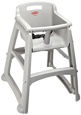 "Rubbermaid FG780608 Platinum Sturdy Chair Youth Seat without Wheels, 23.5"" Length, 23.5"" Width, 29.8"" Height"