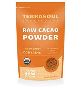 Terrasoul Superfoods Raw Cacao Powder (Organic), 16-ounce