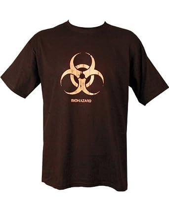 Kombat Mens Military Printed Army Combat Biohazard Taliban Radiation Warning Danger Camo T-shirt Black (Small = Chest 86-91cm or 34-36 inch)