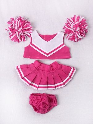 Pink & White Cheerleader Outfit Teddy Bear Clothes