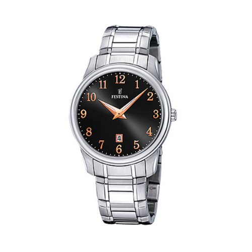 FESTINA F16378/4 - Reloj unisex de cuarzo, correa de acero inoxidable color plata