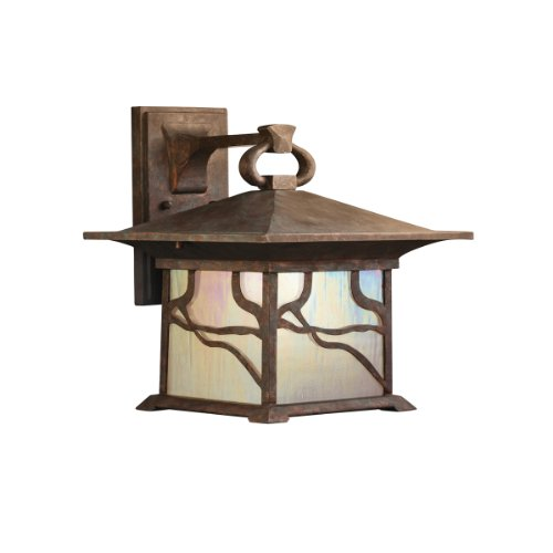 Wall Mounted Incandescent Lamp : >>>Sale Kichler Lighting 9027DCO Morris 1-Light Incandescent Outdoor Wall Mount Lantern ...