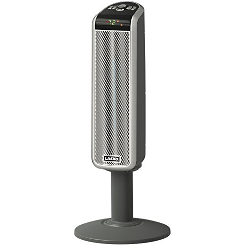 Lasko Cool Touch 1500 Watt Digital Ceramic Tower Heater With Widespread Oscillation & Digital Display With Adjustable Thermostat, Automatic Overheat Protection And Remote Control