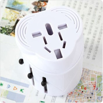 Lyyf High Quality International All-In-One Travel Power Adapter Plug/Universal Travel Plug Adapte.Includes: International Travel Adapter(White), Usb Charger Attachment And Stylish Nylon Travel Case