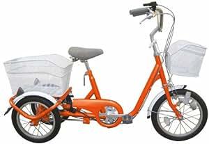 ミムゴ 16インチロータイプ三輪自転車 スイングチャーリー(オレンジ) MG-TRE16SW-OR