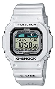 G-Shock Men's Quartz Watch with Grey Dial Digital Display and White Resin Strap GLX-5600-7ER