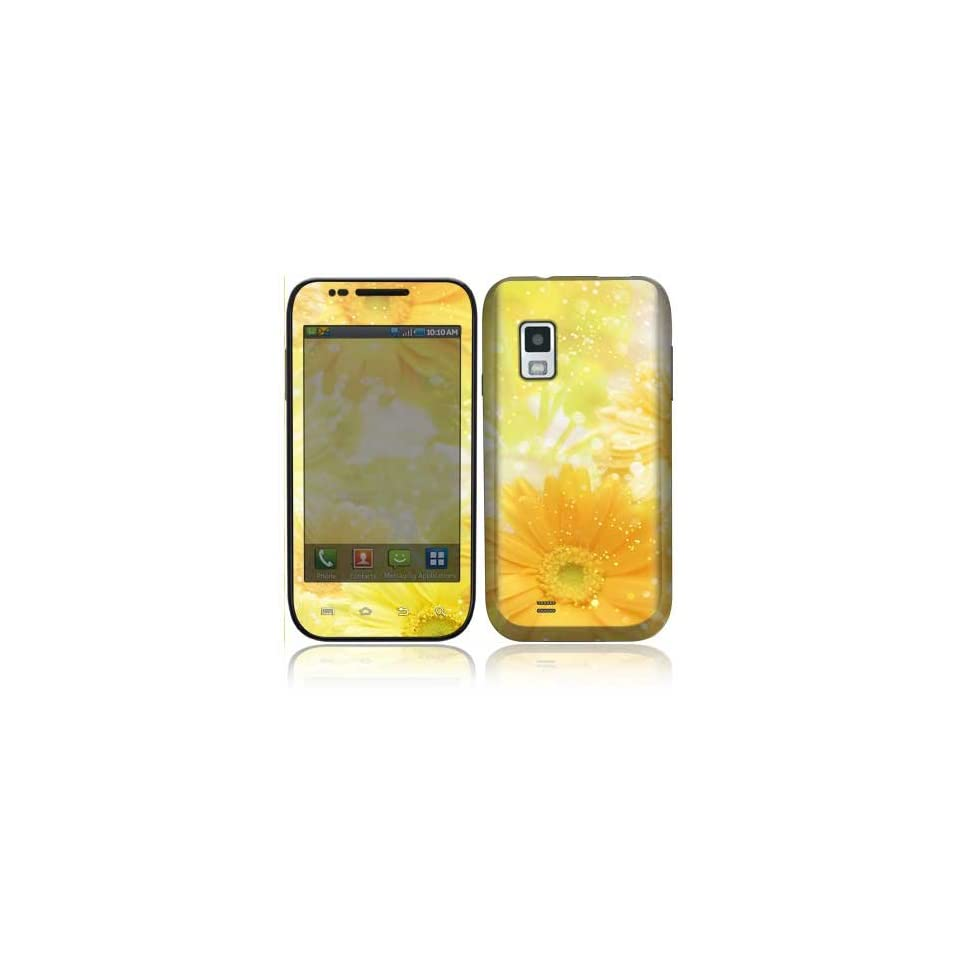 Yellow Flowers Decorative Skin Cover Decal Sticker for Samsung Fascinate SCH i500 Cell Phone