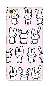 Amez designer printed 3d premium high quality back case cover forSony Xperia Z5 Premium (bunny copy)