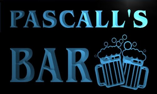 w063570-b-pascall-name-home-bar-pub-beer-mugs-cheers-neon-light-sign
