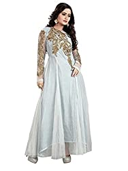 TexStile Womens Fabric Net Gown ( TSG_1_Grey_Freesize )