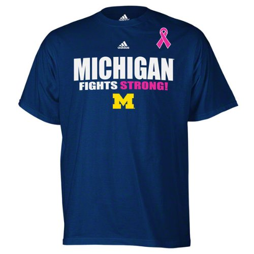 Michigan Wolverines adidas Navy Breast Cancer Awareness